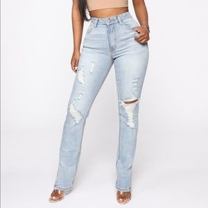 fashion nova y2k jeans bootcut fit with side vents